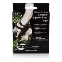 Silikónový erekčný krúžok CalExotics Tri-Snap Scrotum Support Ring
