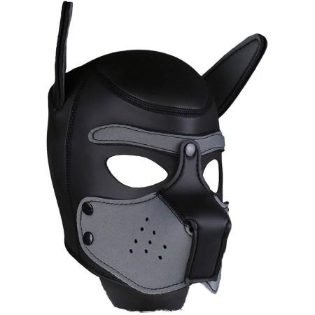 Psia maska Neoprene Puppy Hood šedo-čierna