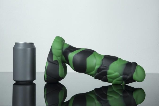 Dračie dildo Weredog Gage Jet/Evergreen Marbled veľké
