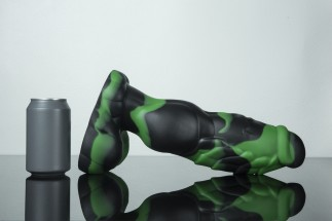 Dračie dildo Weredog Gage Jet/Evergreen Marbled extra veľké