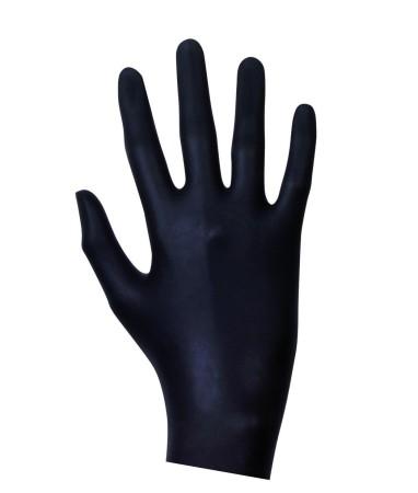 Latexové vyšetrovacie rukavice čierne 20 ks