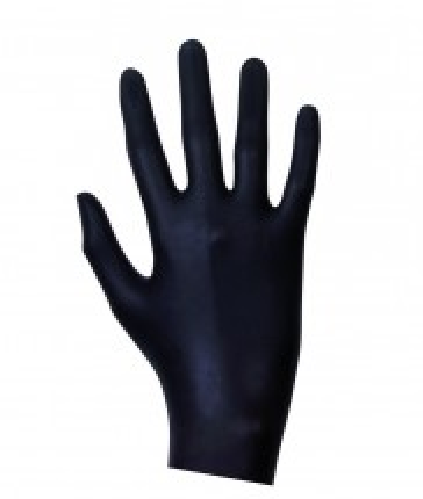Latexové vyšetrovacie rukavice čierne 100 ks
