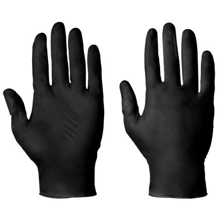 Nitrilové vyšetrovacie rukavice čierne 100 ks