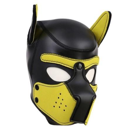 Psia maska Neoprene Puppy Hood žlto-čierna